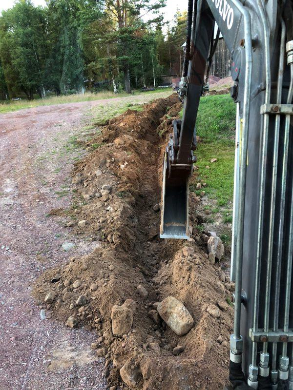 Volvo EC25 Minigrävare Kabelgrävning Älvdalen