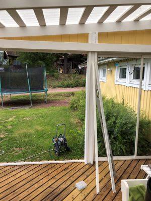 Inglasning av veranda